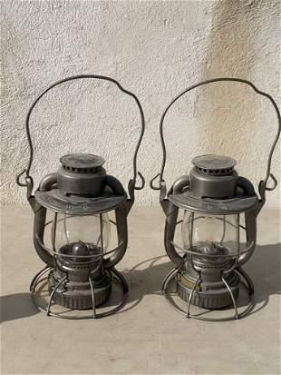 Two Railroad Lanterns