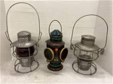 3 Lehigh Valley Railroad Lanterns