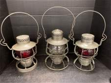 3 Railroad Lanterns