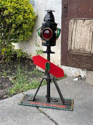 Custom Painted Railroad Switch with Lantern