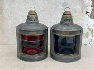 Pair of Perko Nautical Ships Lanterns