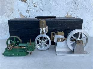 Three Steam Engine Models
