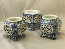 Three Japanese Sake Cup Stands