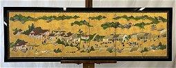 Japanese Kano School Six-panel Screen