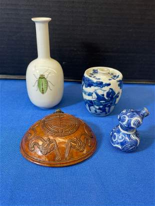 Four-piece Chinese Decorative Grouping