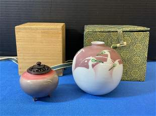 Two Pieces of Japanese Studio Porcelain