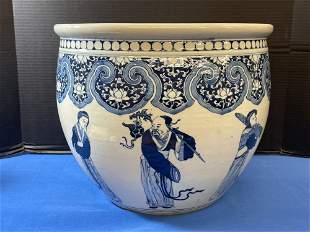 Chinese Blue & White Porcelain Jardiniere