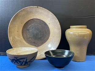 Four-piece Asian Ceramic Grouping