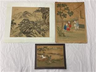 Three Watercolor Paintings