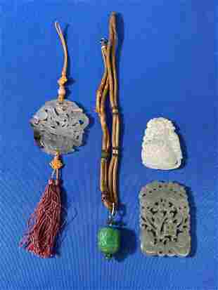 Four-piece Chinese Carved Jade Grouping
