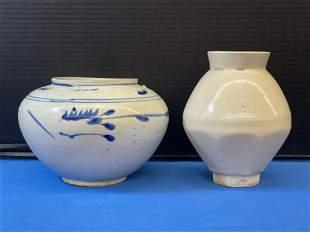 Two Korean Pottery Vases