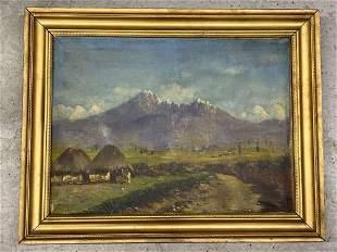 Emilio Moncayo. Oil on Canvas, Andes Mountains