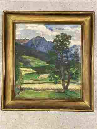 Ludwig Wieden. Oil/Canvas, Mountainous Landscape