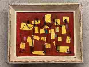 Jay Thurston Robinson. Oil/Panel, Manioc Pounders
