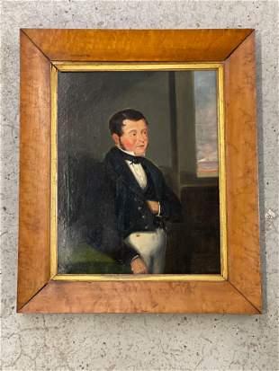 19th C. Oil/Canvas, Portrait of a Gentleman