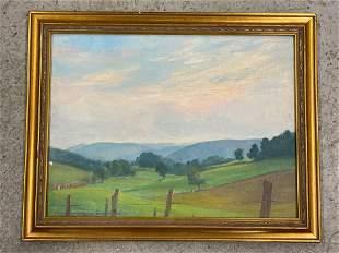 John Newton Hewitt. Oil on Panel, Landscape