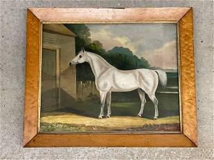 John Robert Hobart. Oil/Canvas, Equestrian Scene