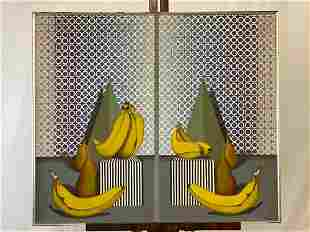Xavier Esqueda. Oil/Canvas, Surrealist Still Life