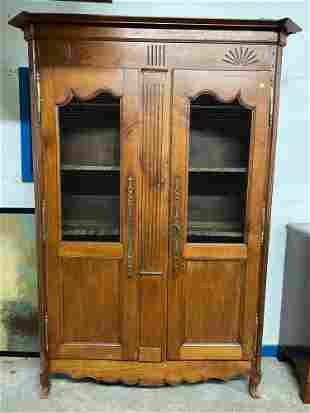 French Louis XV-style Fruitwood Cabinet