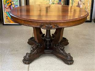 Victorian Rosewood Extension Dining Table