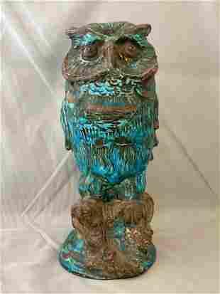 Italian Pottery Sculpture of an Owl