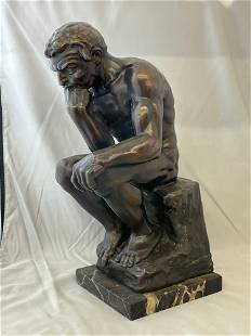 Bronze Sculpture, The Thinker
