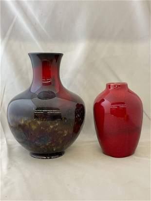 Two Vases: Royal Doulton Sung Vase & Other
