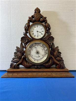 English Carved Table-top Barometer
