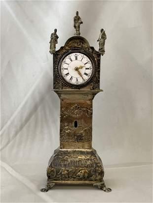 Miniature Silver Tall Case Clock