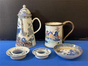 Five-piece Chinese Porcelain Grouping