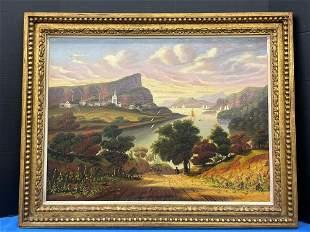 Thomas Chambers (attrib.). Oil/Canvas, West Point