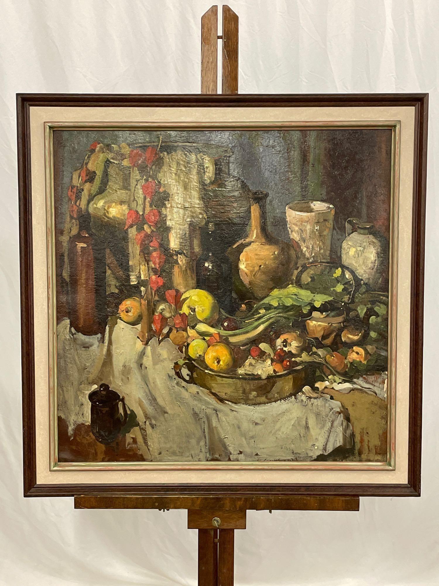 Marion Harris (attrib.) Oil/Canvas, Still Life