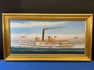 Scott Cameron. Oil/Canvas, Steamer West Chester
