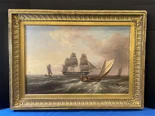George Bonfield (Attrb.). O/C, Maritime Scene