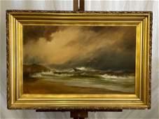 Alexander Charles Stuart. O/C, Maritime Scene