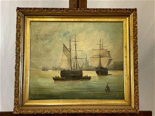 Oil/Canvas, Maritime Seascape