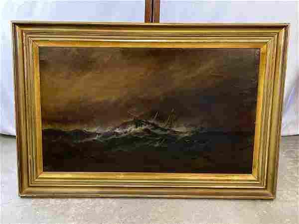 Alexander Charles Stuart. Oil/Canvas, Sinking Ship