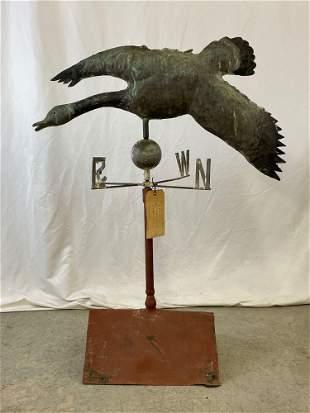 Delaware Full-bodied Copper Goose Weathervane