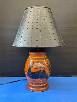 Greg Shooner Redware Table Lamp