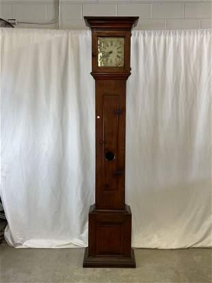 Shaker-style Walnut Tall Case Clock