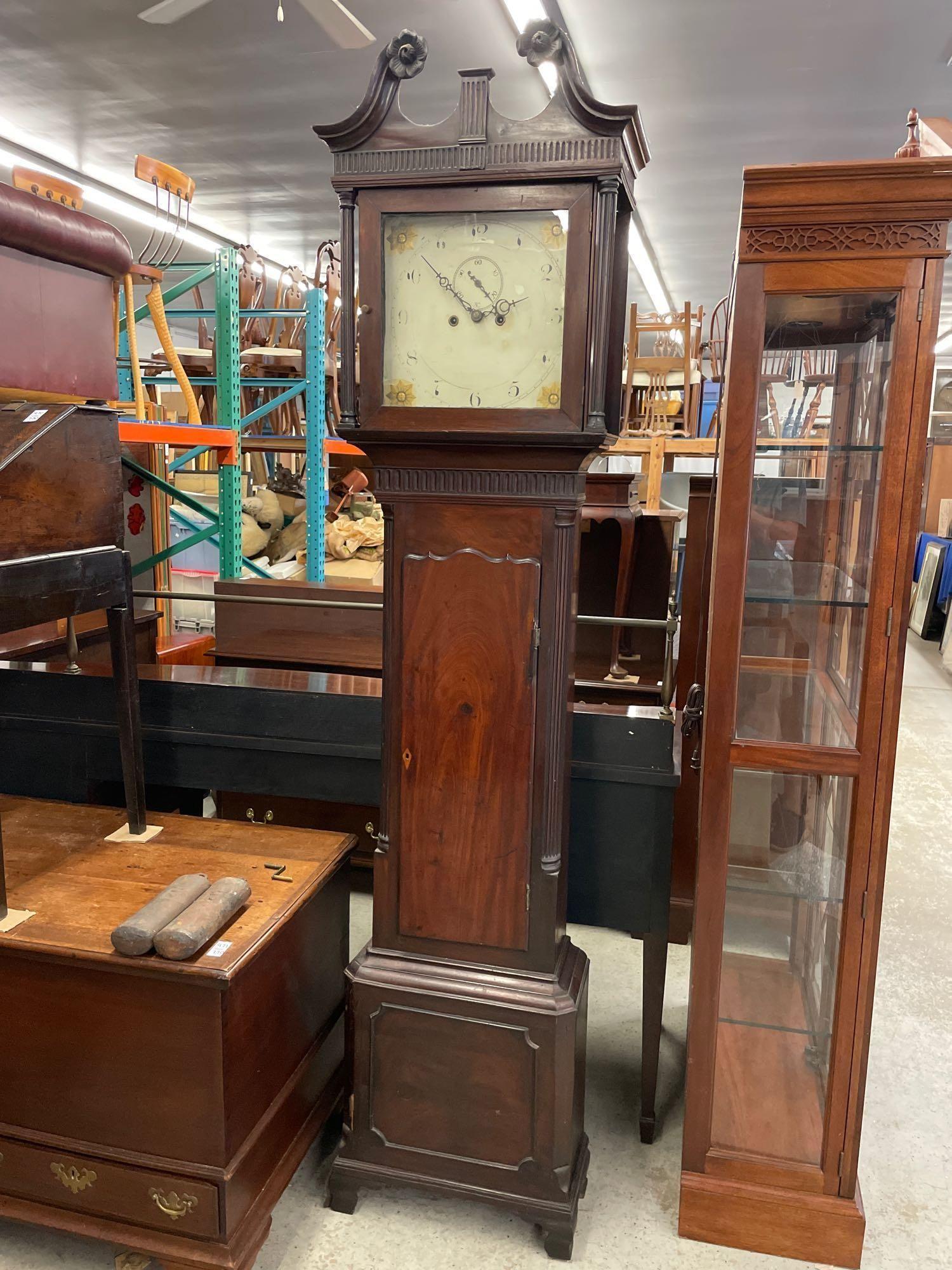 Federal Mahogany Tall Case Clock
