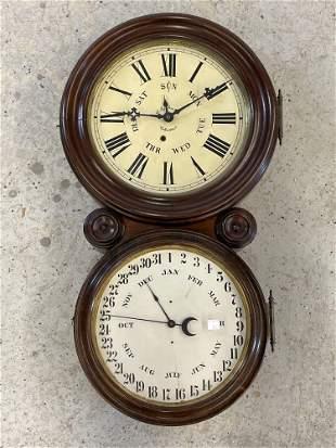 E. Ingraham Calendar Wall Clock