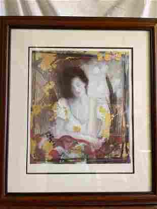 Janet Treby. Seriolithograph, Florentine I