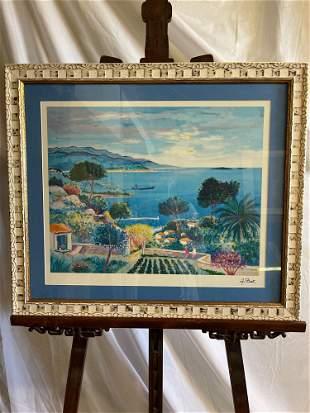 Jean Claude Picot. Seriolithograph, Coastal Scene