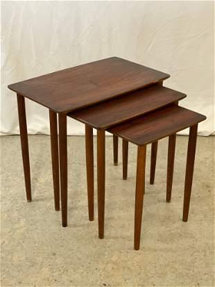 Nest of Three Danish Modern Tables