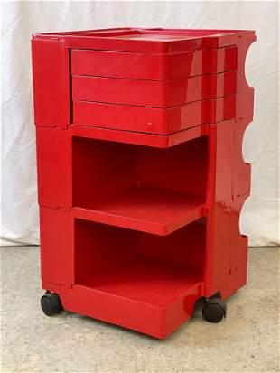 Joe Colombo Red Boby Storage Cart