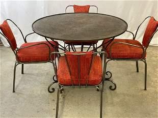 Five-piece Wrought Iron Dinette Set