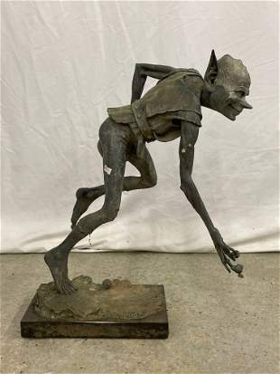 David Goode. Bronze Sculpture, Snailmaker