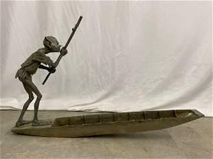 David Goode. Bronze Sculpture, The Ferryman