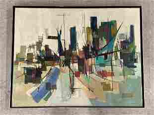 Albert Alcalay. Oil/Canvas, Abstract